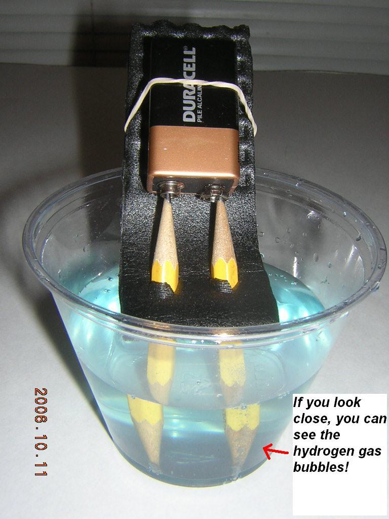 9 Volt Electrolysis